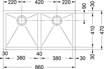cuve franke ppx 120 manuelle plan de travail sur paris. Black Bedroom Furniture Sets. Home Design Ideas